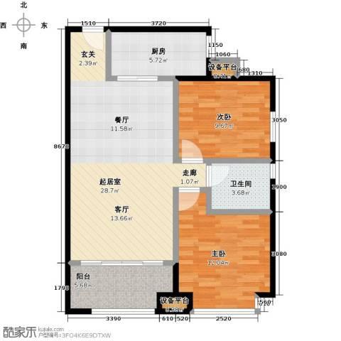 名品建筑2室0厅1卫1厨88.00㎡户型图