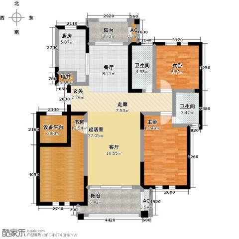 中港城世家3室0厅2卫1厨122.00㎡户型图