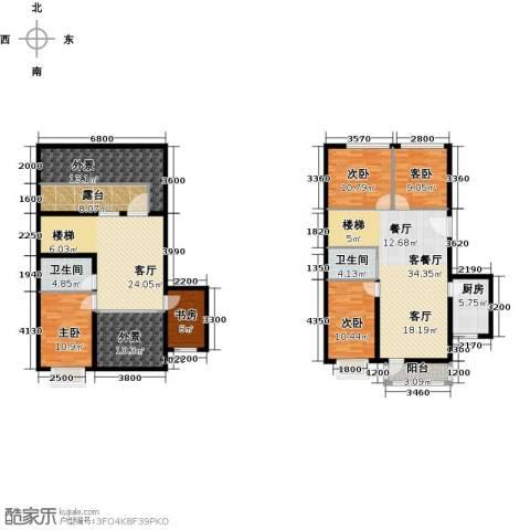 蓝山郡5室2厅2卫1厨170.00㎡户型图