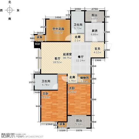 九龙仓繁华里2室0厅2卫1厨123.00㎡户型图