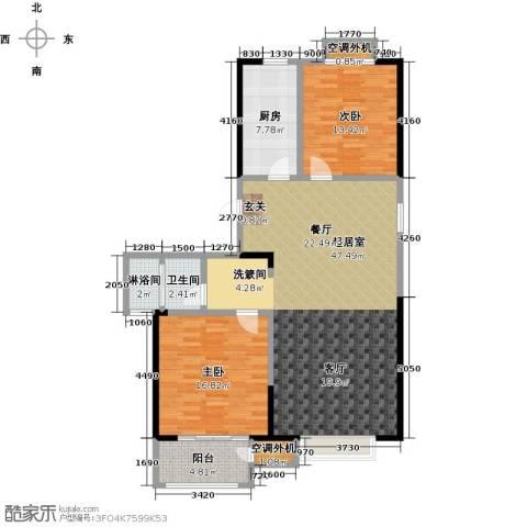 香桥郡2室0厅1卫1厨135.00㎡户型图