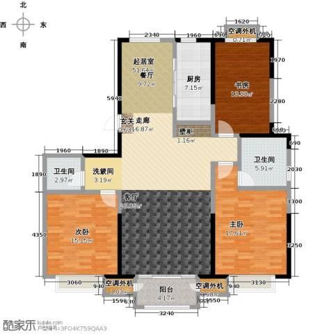 香桥郡3室0厅2卫1厨169.00㎡户型图