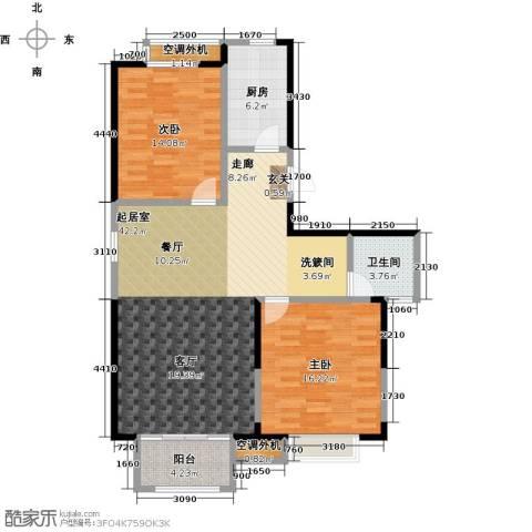 香桥郡2室0厅1卫1厨124.00㎡户型图