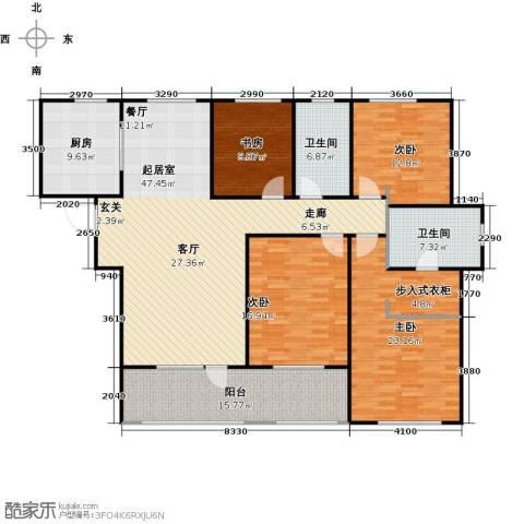 朗诗新北绿郡4室0厅2卫1厨160.00㎡户型图
