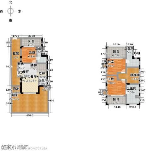陶然湾2室1厅4卫0厨143.00㎡户型图
