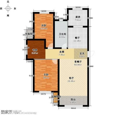 亿达天琴山2室1厅1卫1厨126.00㎡户型图