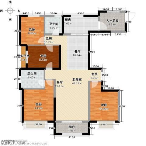 保利花园4室0厅2卫1厨163.00㎡户型图