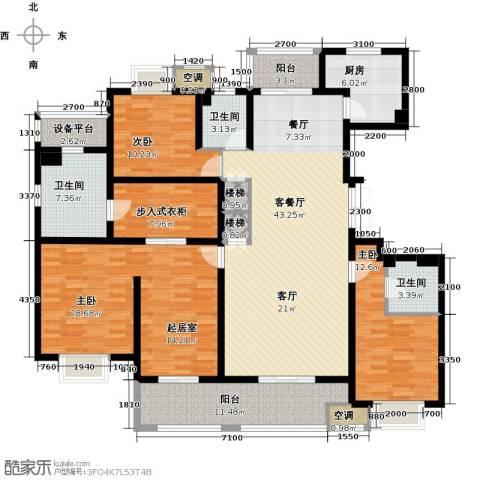 邦泰中央御城3室1厅3卫1厨178.00㎡户型图