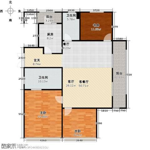 景瑞望府3室1厅2卫1厨135.94㎡户型图