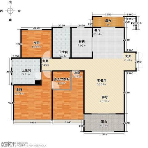 景瑞望府3室1厅2卫1厨135.16㎡户型图