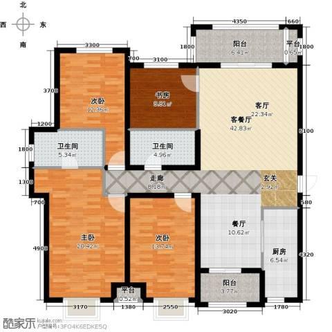 隆都翡翠湾4室1厅2卫1厨179.00㎡户型图