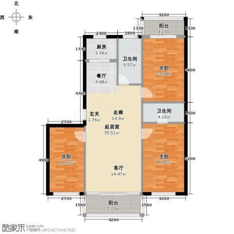梧桐苑3室0厅2卫1厨137.00㎡户型图