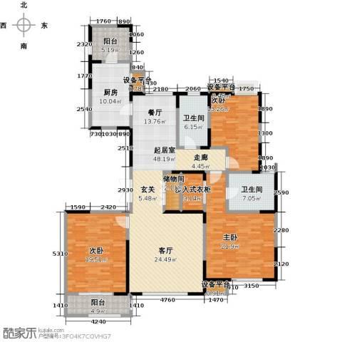 中星湖滨城四期3室0厅2卫1厨202.00㎡户型图