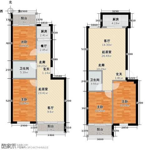 梧桐苑4室0厅2卫2厨174.00㎡户型图