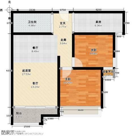 佳诚长安集2室0厅1卫1厨88.00㎡户型图