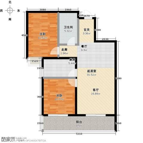 曲江风景线2室0厅1卫1厨94.00㎡户型图