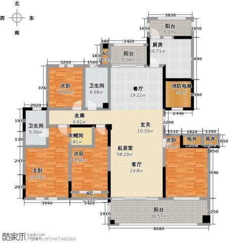 中港城世家4室0厅2卫1厨189.00㎡户型图
