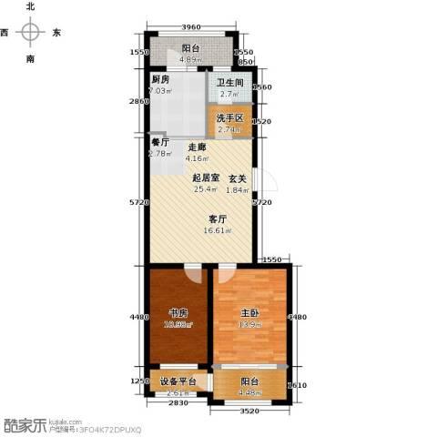 盛德山水绿城2室0厅1卫1厨86.00㎡户型图
