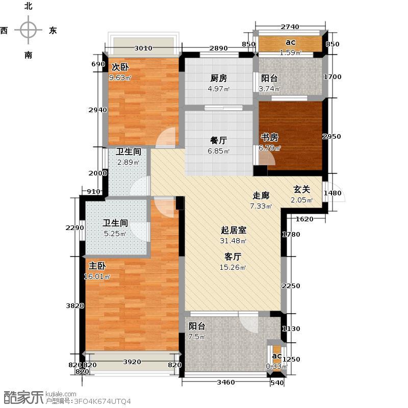 万国城MOMA116.00㎡万国城MOMA户型图A1户型(2/12张)户型3室2厅2卫