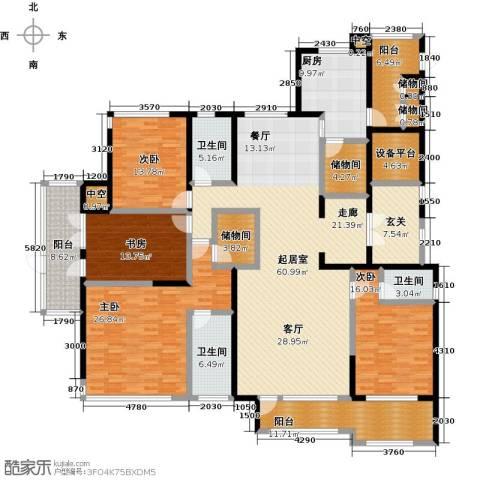君悦・东湖公馆4室0厅3卫1厨238.00㎡户型图