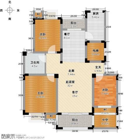 越湖家天下3室0厅1卫1厨102.00㎡户型图