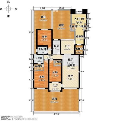 东方今典3室0厅2卫1厨168.00㎡户型图