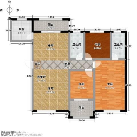 隆都翡翠湾3室1厅2卫1厨153.00㎡户型图