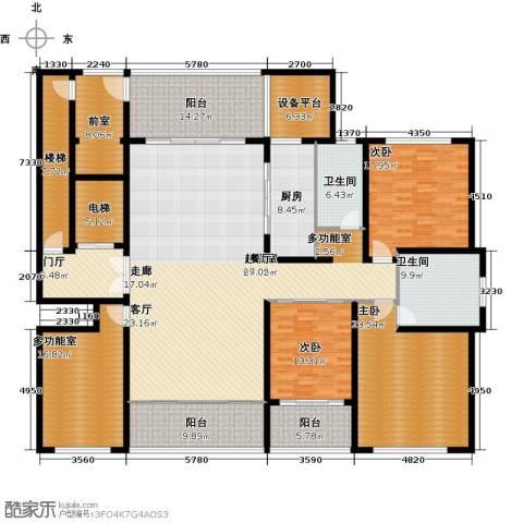 海鑫花园3室0厅2卫1厨258.00㎡户型图