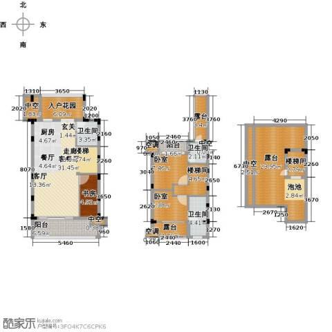 陶然湾1室1厅3卫0厨136.00㎡户型图