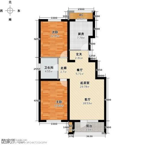 万科惠斯勒小镇2室0厅1卫1厨99.00㎡户型图