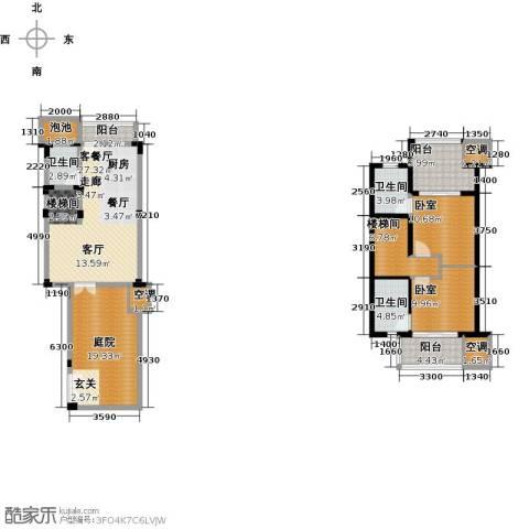 陶然湾1厅3卫0厨123.00㎡户型图
