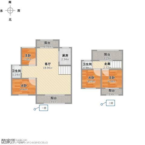 华景苑4室1厅2卫1厨73.00㎡户型图