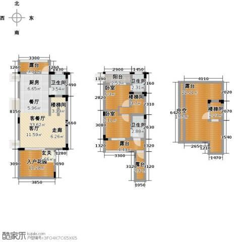 陶然湾1厅3卫0厨132.00㎡户型图