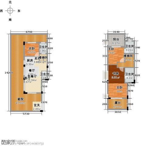 陶然湾3室1厅4卫0厨151.00㎡户型图