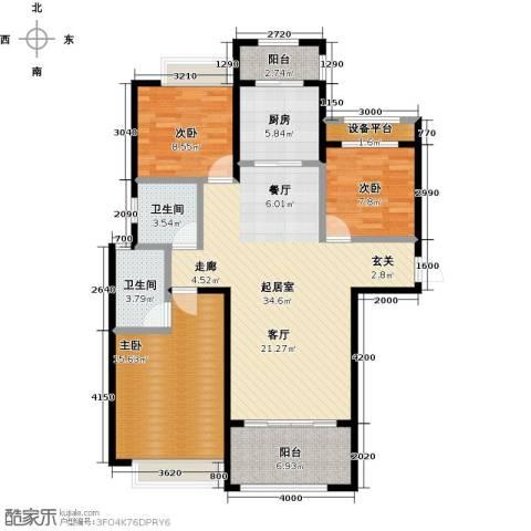 台�国际广场3室0厅2卫1厨130.00㎡户型图