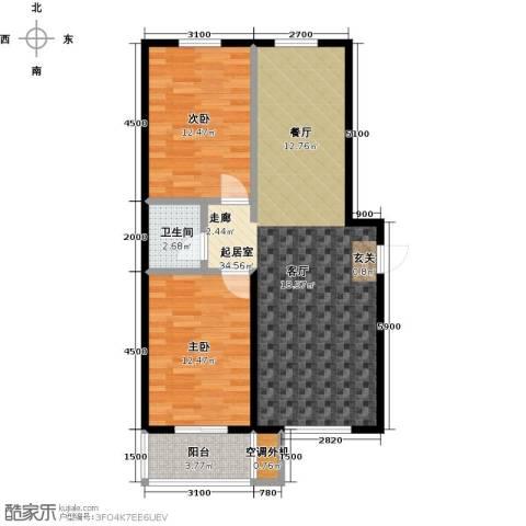 海韵馨园2室0厅1卫0厨94.00㎡户型图