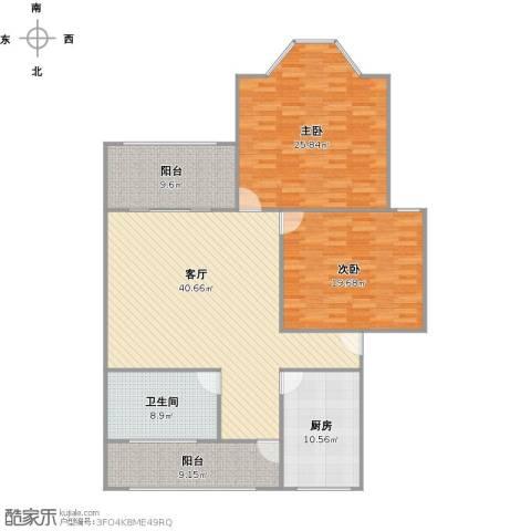品翠苑2室1厅1卫1厨132.01㎡户型图