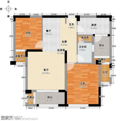 融绿�园2室0厅1卫1厨116.00㎡户型图