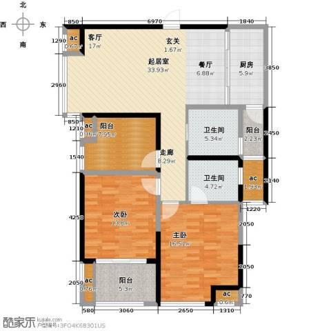 花好月圆2室0厅2卫1厨117.00㎡户型图