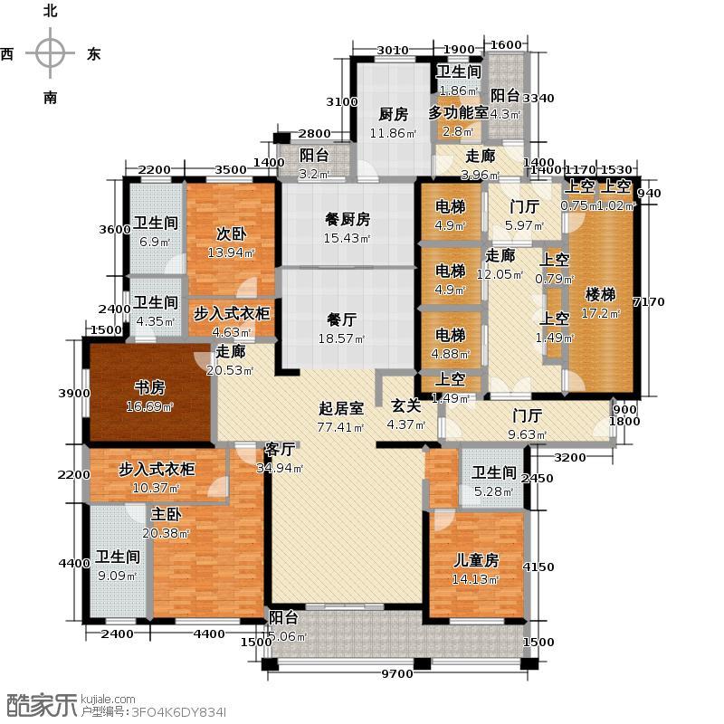 泛海国际兰海园306.00㎡3号楼户型4室3厅5卫