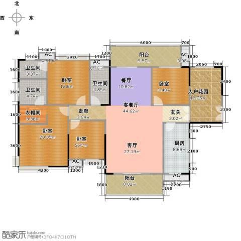 远洋启宸1厅3卫1厨179.00㎡户型图