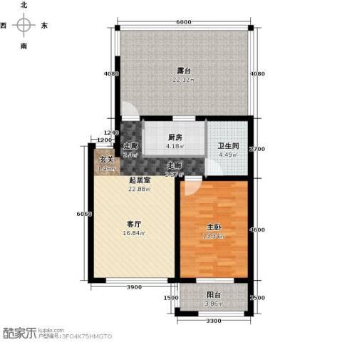 博维水映华廷1室0厅1卫1厨101.00㎡户型图
