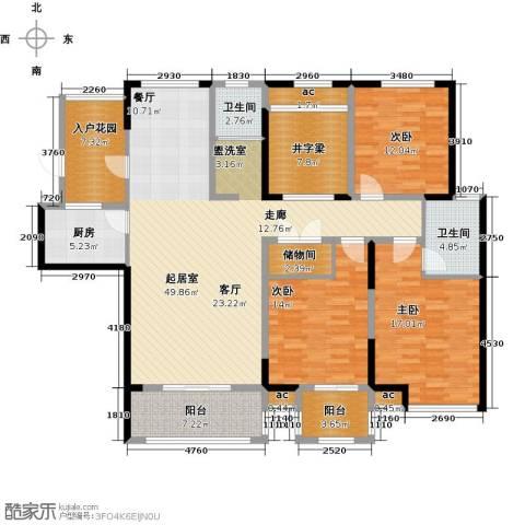 花好月圆3室0厅2卫1厨159.00㎡户型图