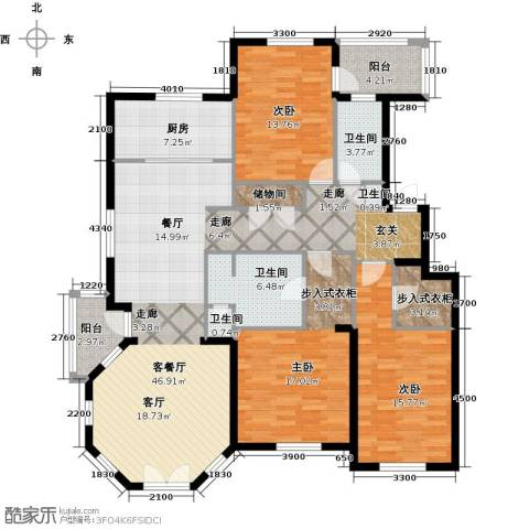 德嘉与海3室1厅4卫1厨175.00㎡户型图