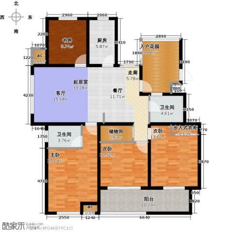 花好月圆4室0厅2卫1厨142.00㎡户型图
