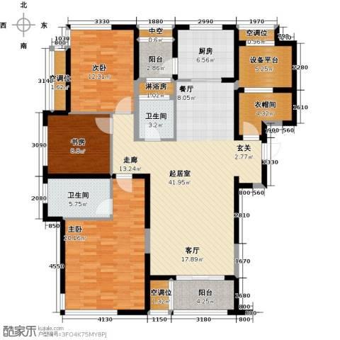 融绿�园3室0厅2卫1厨140.00㎡户型图