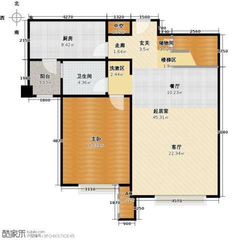 宝能城1室0厅1卫1厨173.00㎡户型图
