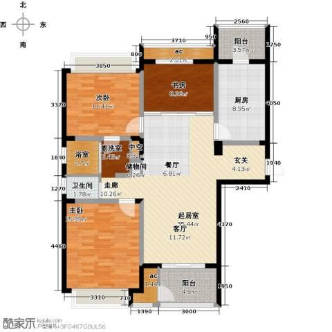 北极星花园3室0厅1卫1厨113.00㎡户型图