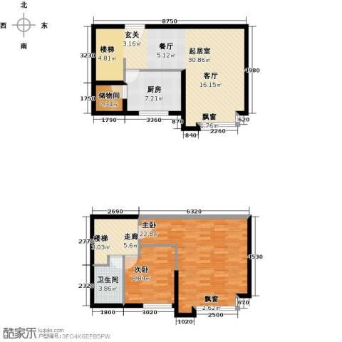 名品建筑2室0厅1卫1厨92.00㎡户型图