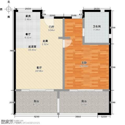 中信庐山西海1室0厅1卫0厨92.00㎡户型图